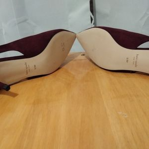 kate spade Shoes - Brand New Kate Spade Violet Suede on kitten heels.